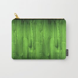 Green Grass Wood Planks Carry-All Pouch