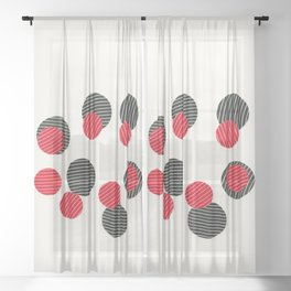 Spots and Stripes Sheer Curtain