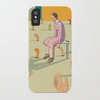 hands iPhone & iPod Cases featuring Hands by Nahal