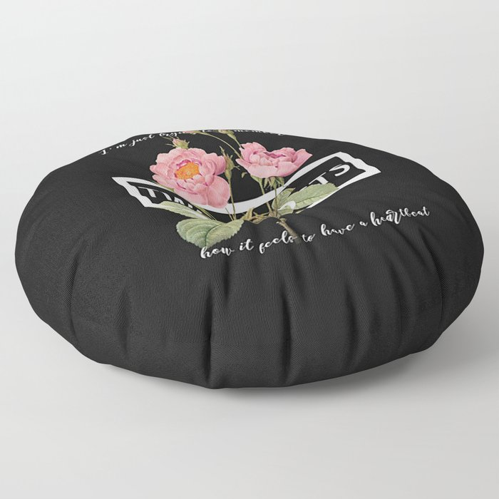 Harry Styles Two Ghosts graphic design Floor Pillow