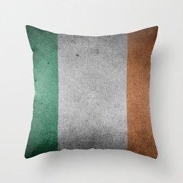 Irish Flag Grunge Throw Pillow