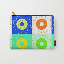 Floral squares in bright colors Carry-All Pouch