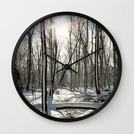 Sparkling Snow Wall Clock