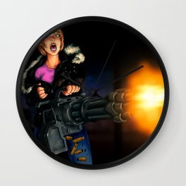 gatling girl Wall Clock