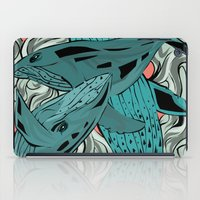 whales iPad Cases featuring Whales by melcsee
