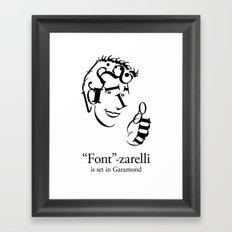 'Font'-zarelli Framed Art Print
