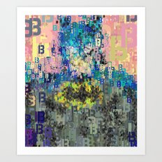 Bat Type Man - Abstract Pop Art Comic Art Print