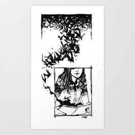 Read and Weep Art Print