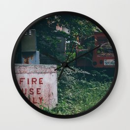 Fire Use Only Wall Clock