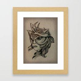 northwestern witch Framed Art Print