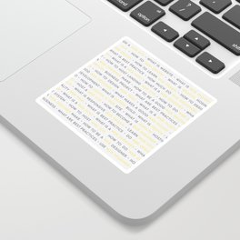 Yellow Web Design Keywords Poster Sticker