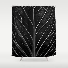 The black leaf Shower Curtain