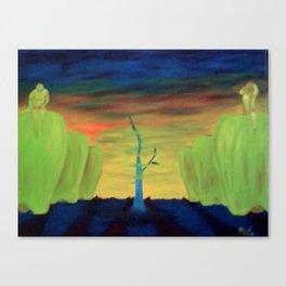 la huerta de la señora nelly Canvas Print