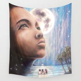 The Moon - Tarot Card Art Wall Tapestry