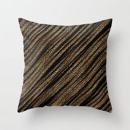 Black Leopard/Cheetah Print Throw Pillow
