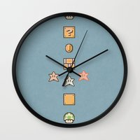 mario bros Wall Clocks featuring Super Mario Bros. 3 by avoid peril