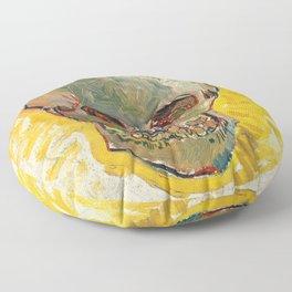 Skull by Vincent van Gogh, 1887 Floor Pillow