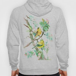 American Goldfinch and Apple Blossom Hoody