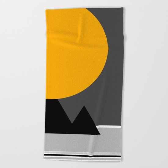 sun over Pyramides Beach Towel