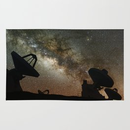 Radio Telescopes and Milky Way Rug