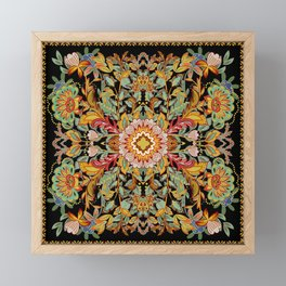Mandala Fire Dance  Framed Mini Art Print