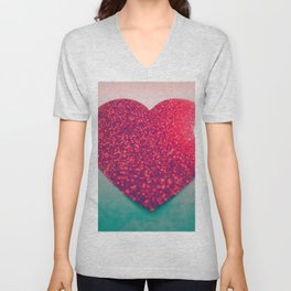 Burning love Unisex V-Neck