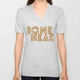 Hallows Eve Spooky Gift Bonehead Art Word Funny Halloween Party Unisex V-Neck