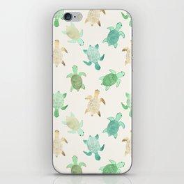 Gilded Jade & Mint Turtles iPhone Skin