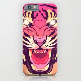 Cool angry tiger iPhone Case