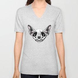Shynx Half Skull Pattern Unisex V-Neck