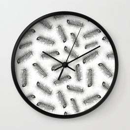 Hairy grubs Wall Clock