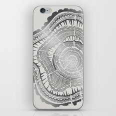 Growth Rings – 65 Years – Silver iPhone & iPod Skin