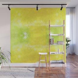 """Lemon jello"" triangles design Wall Mural"
