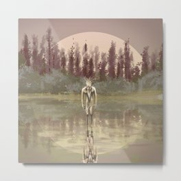 Tree spirit from the woods lake Metal Print