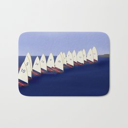 In May, May's Regatta - shoes stories Bath Mat
