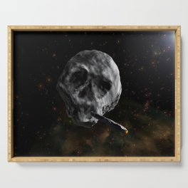 Skull Asteroid with Astro Blunt , Infinite Plane Society Serving Tray