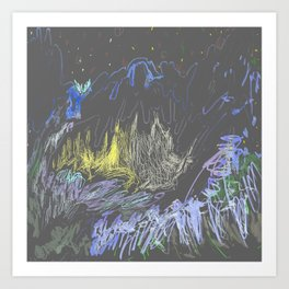 chaotic landscape Art Print