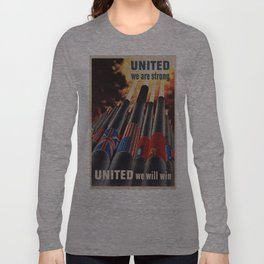 Vintage poster - Allies Long Sleeve T-shirt