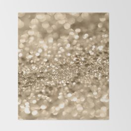 Champagne Gold Lady Glitter #2 #shiny #decor #art #society6 Throw Blanket