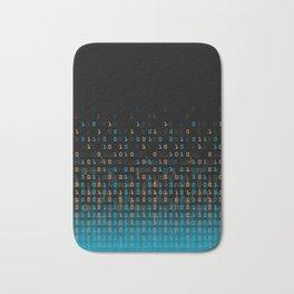 Binary Speed Blue Bath Mat