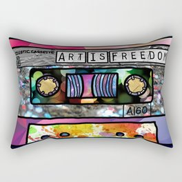 Art Is Freedom Cassette Rectangular Pillow