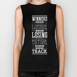 Lab No. 4 Winners Lose Much More Matthew Keith Groves Motivational Quote Biker Tank