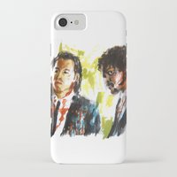 pulp fiction iPhone & iPod Cases featuring Pulp Fiction by Miquel Cazanya