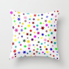 Colorful stars Throw Pillow