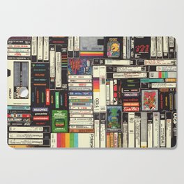 Cassettes, VHS & Games Cutting Board