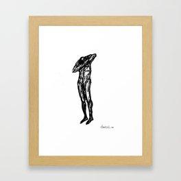 Boceto gestual 8 Framed Art Print