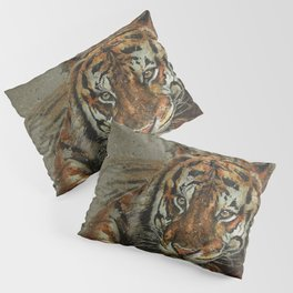 Tiger background Pillow Sham
