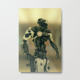 CyberCop - The Future of Law Enforcement - Robot Police - Sci-Fi Artwork Metal Print