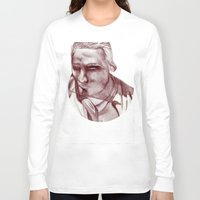 actor Long Sleeve T-shirts featuring 1898 Stage actor by seb mcnulty