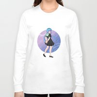 vocaloid Long Sleeve T-shirts featuring Aoki Lapis - VOCALOID Gakuen by Tenki Incorporated
